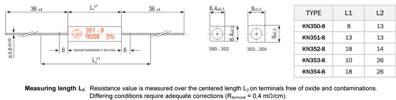 KN8 Series Dimensions